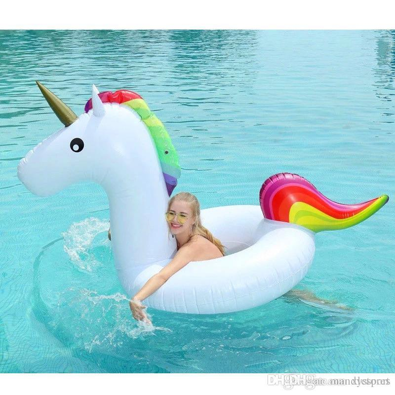 120 * 90 CM Medium Größe Einhorn Schwimmen Float Aufblasbare Pool Float Schwimmen Kreis Für Teenager Strand Sommer Wasser Spiel Party spielzeug