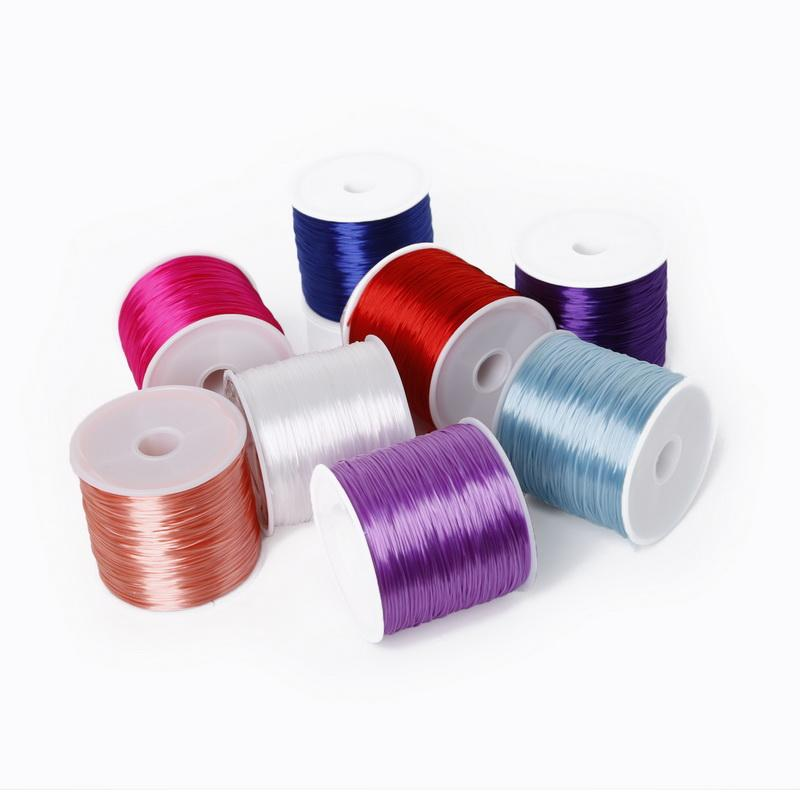 Nouveau fil multicolore élastique de perles 0.7MM / cordon / ficelle / fil pour le vêtement Chaussures Bracelet Jewlery faisant 60meters / roll
