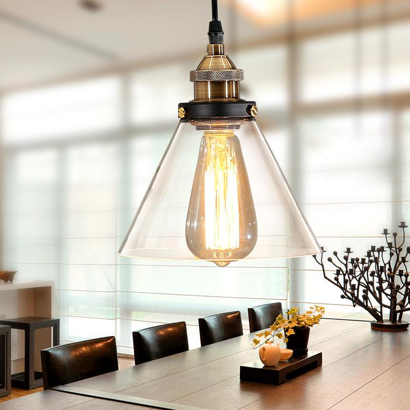 Vintage Pendant Light industrial loft Glass Lamp Shade Pendant Lamp For Kitchen Light Fixture Table Ceiling Hanging Light Lamp