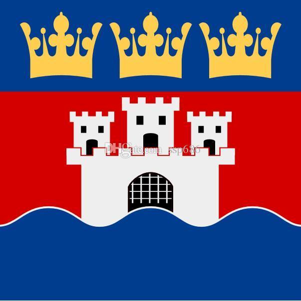 Flaga Szwecji Jönköpings Län Vapenflagga 3FT X 3FT Poliester Banner Latający 90 CM Flag Outdoor