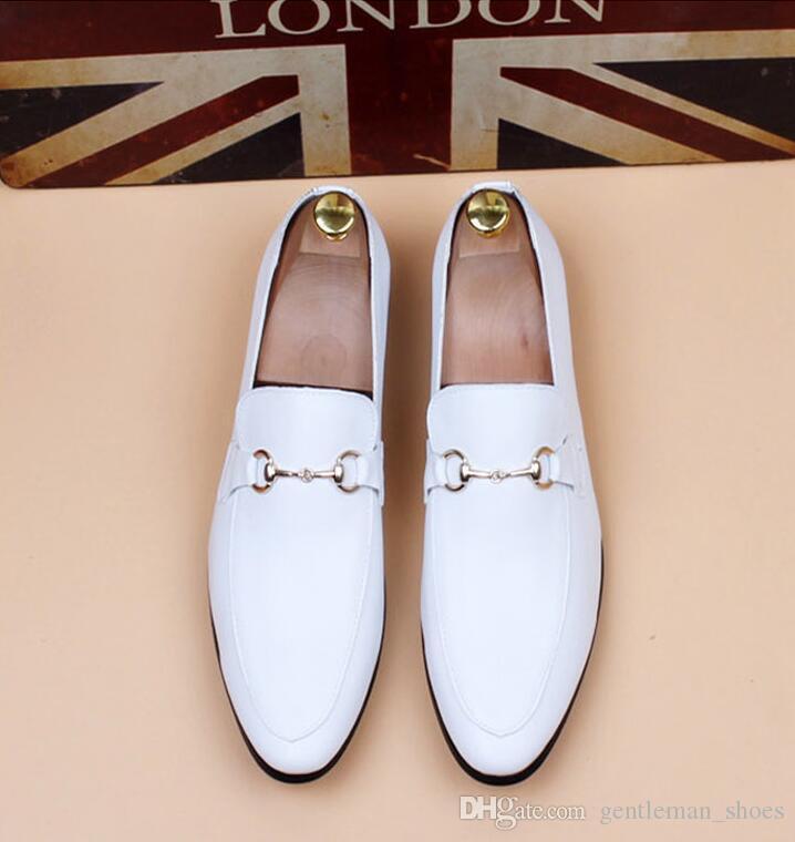 zapatos hombre vestido de novia zapatos hombres negro piel de serpiente diseñador de grano hombres negocios zapatos Fumar zapatilla Tamaño de EE. UU .: 6-10 536