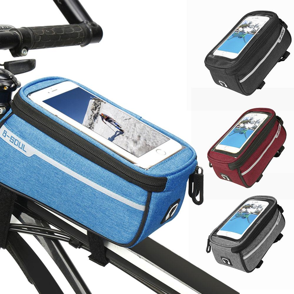 Bicycle Cycling Accessories Phone Touch Screen MTB Frame Front Tube Storage Bag