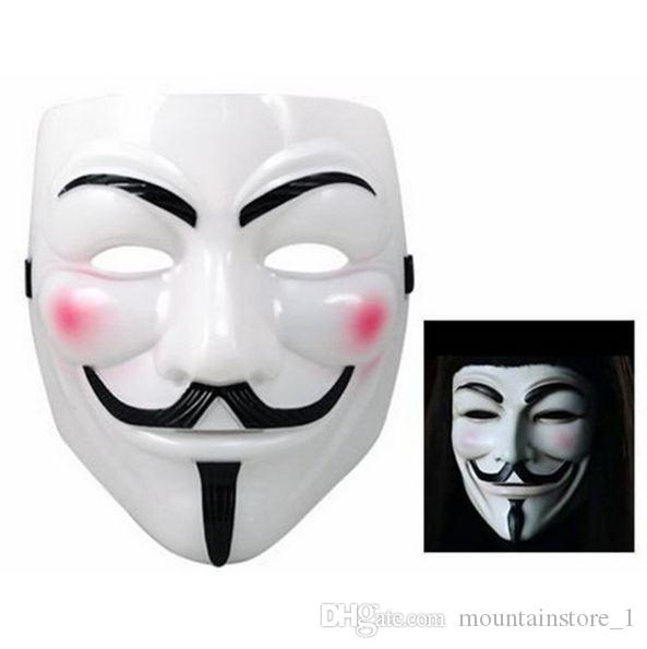 New Party Masks V for Vendetta Mask Anonymous Guy Fawkes Fancy Dress Adult Costume Accessory Party Cosplay Masks