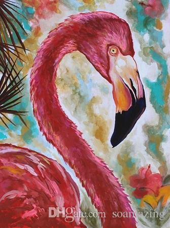 Arte moderna astratta bella degli uccelli, pittura a olio di arte della parete animale dipinta a mano di alta qualità su tela di diverse dimensioni disponibili A089