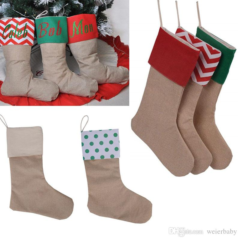 Burlap Christmas Stockings.Diy Personalized Burlap Christmas Stocking Christmas Decoration Socks Xmas Fireplace Decor Canvas Candy Socks Gift Bags Cheap Christmas Decorations