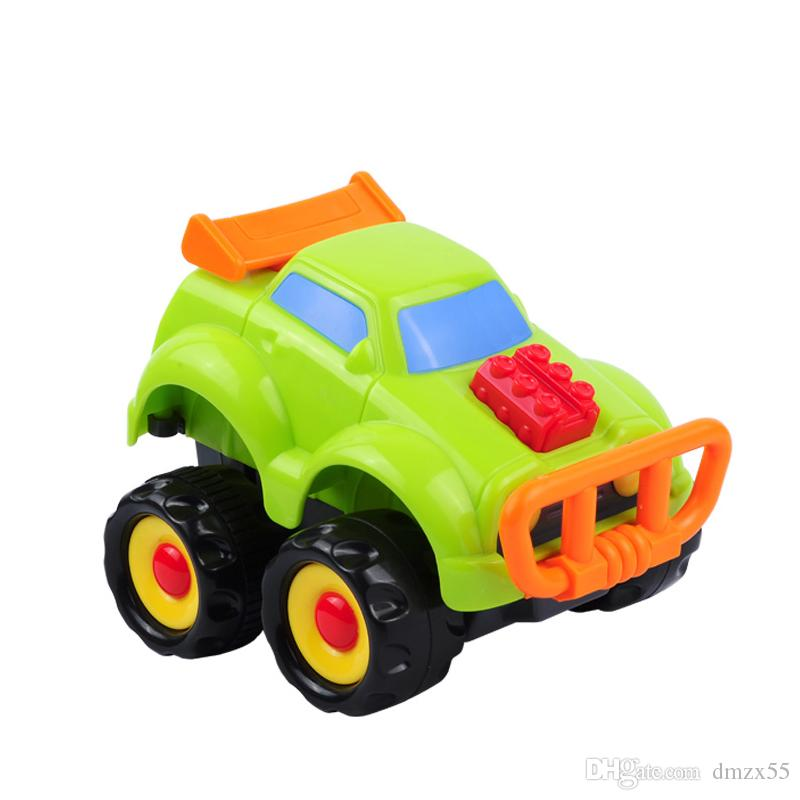 2018 new cartoon off-road vehicle children's jeep toy resistance to fall elastic back to the toy jeep model toy racing