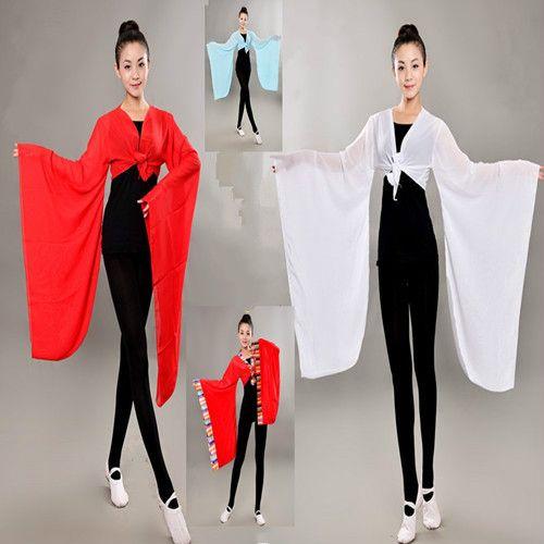 Gradient Chinese Dai Folk Dance Costume gran manga Fancy Dance Costume Lady Kids Yangko ropa traje tibetano