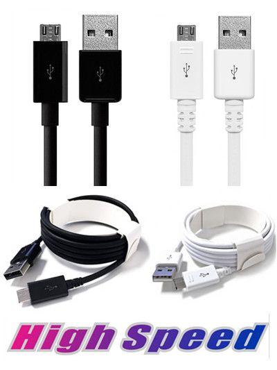 3ft / 6ft / 10ft USB Mikro Tip C Kablosu Erkek Veri Sync Kablo Şarj Kablosu Telefon için Samsung S6 S7 Kenar Not 4 5 6 7 Smartphone