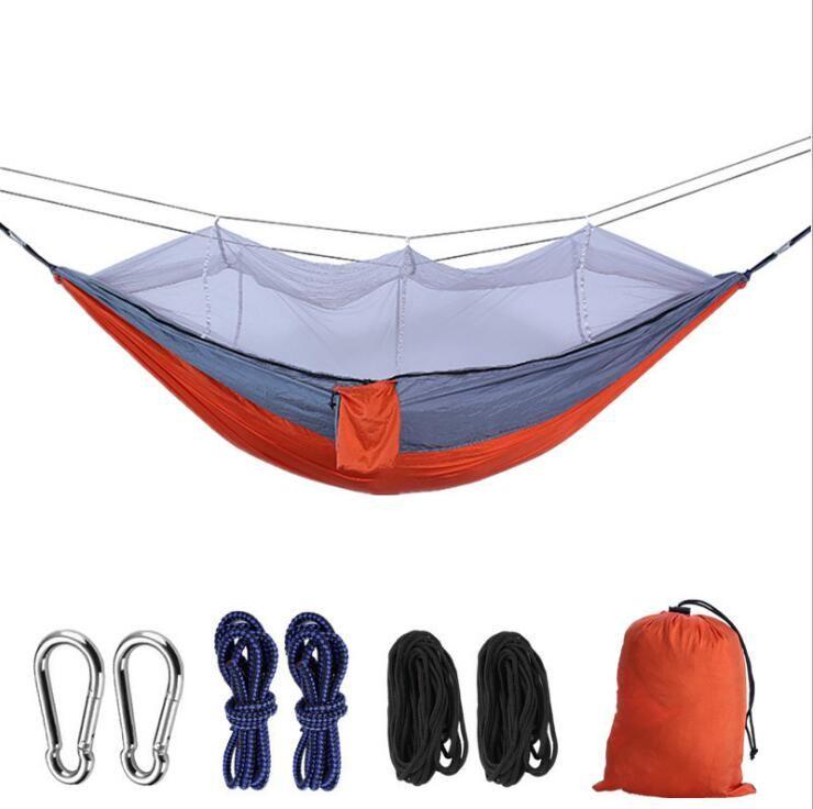모기장 군대 그물 침대 모기장 캠핑 하마 카 해먹 초경량 야외 캠핑 사냥 모기장 12 색