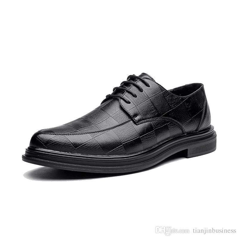 Microfiber Мода Мужчины Бизнес платье Мокасины Pointy Черные ботинки дышащие Формальное Свадебная обувь