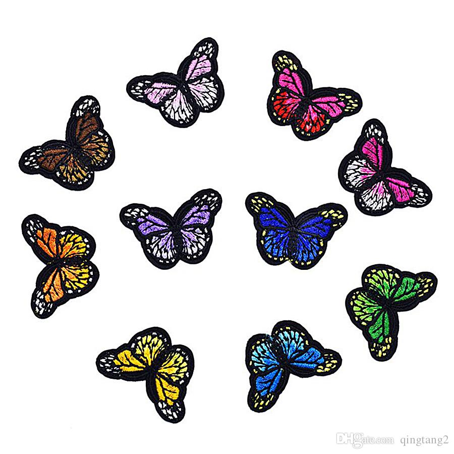 10PCS Embroidery Small Butterfly Ironed on and Sewed Patches Patchwork Accessories Sew Embroidered Applique for Clothing Bags Sweater Decals