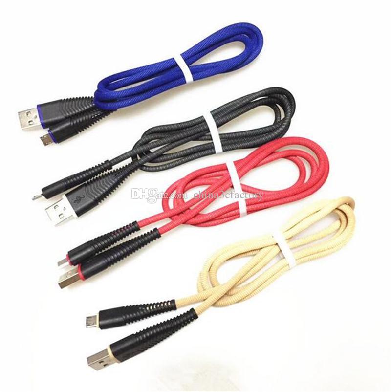 حورية البحر قوي 1M مضفر كابل الناقل التسلسلي العام 3FT سرعة عالية مايكرو USB كابلات البيانات شاحن لسامسونج S6 S7 ANDRIOD الهاتف