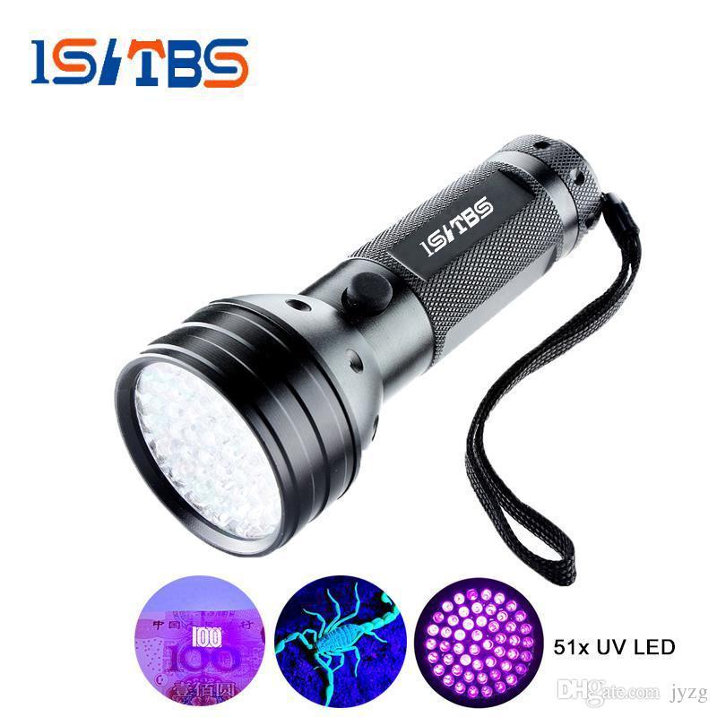 Uv Led El Feneri 51 Leds 395nm Ultra Violet Torch Işık Lambası Köpek Idrar Pet Lekeleri ve Yatak Bug için Blacklight Dedektörü
