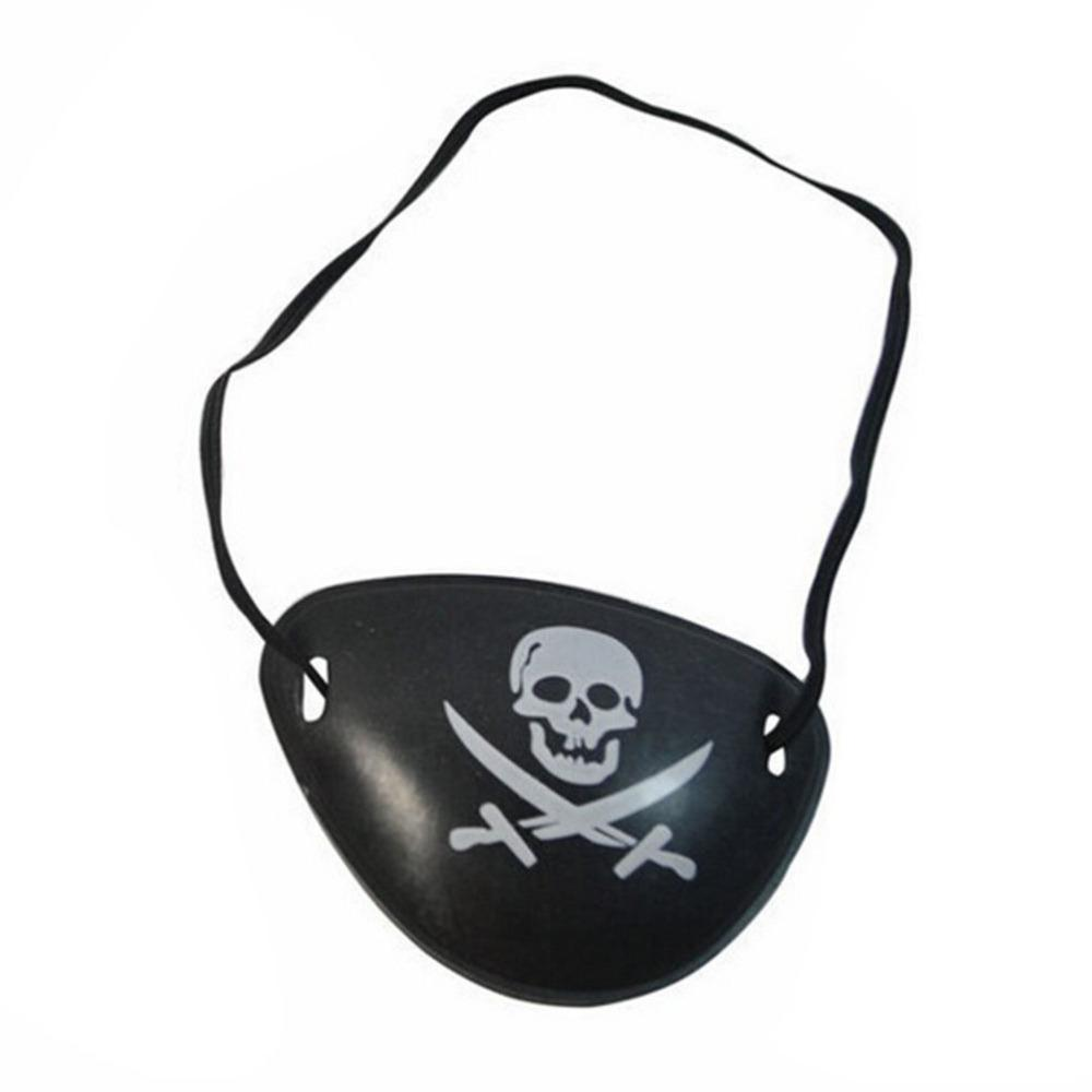 1 PC Traje De Plástico Pirata Olho Remendo Preto Favores Do Partido Saco Crânio Crossbone Halloween Aniversário Crianças Brinquedo Fontes Do Partido