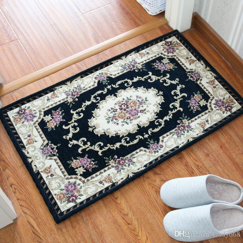 22 Style European Door Mat Anti-slip Carpet Dustproof Water Absorbent Carpet Bathroom Bedroom Living Room Floor Door Sofa Carpet Kitchen Rug
