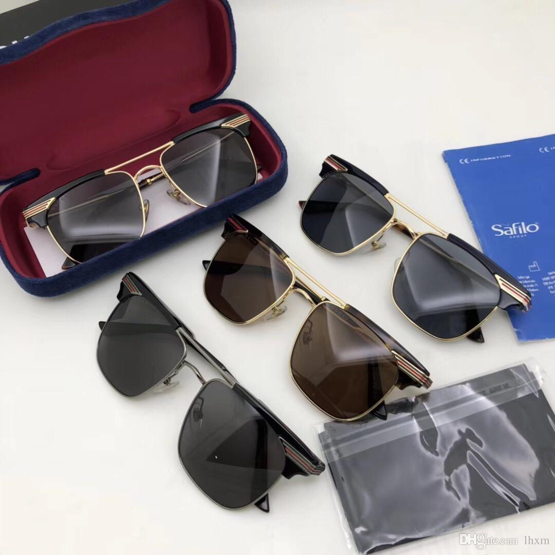 Frete grátis-New 2019 óculos de sol dos homens 0287s e moda feminina óculos de sol 4 cores para escolher a marca