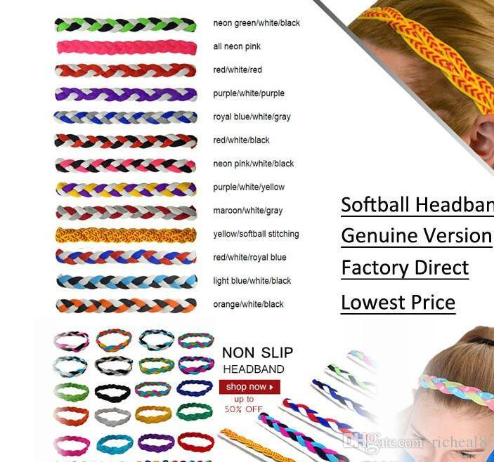 fasce per capelli Yoga nuovo anno all'ingrosso DHL Mix Colori 3 fasce triple Intrecciato mini Stretch Softball Fasce sportive