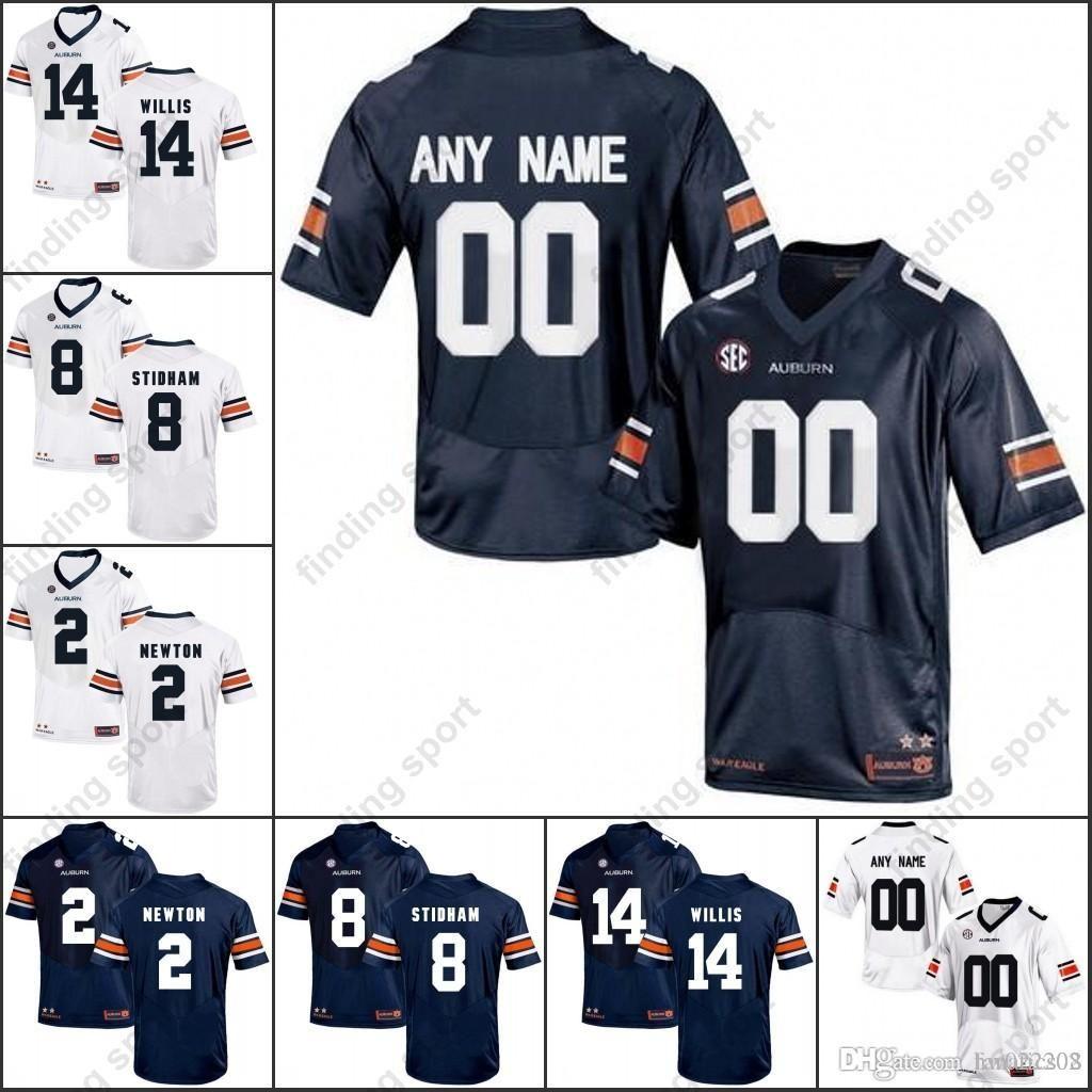 best cheap 6fa7b c05c5 2018 Custom Auburn Tigers College Football Any Name Number 2 Cam Newton 14  Malik Willis 34 Bo Jackson 8 Jarrett Stidham Jerseys From Fanatics04, ...
