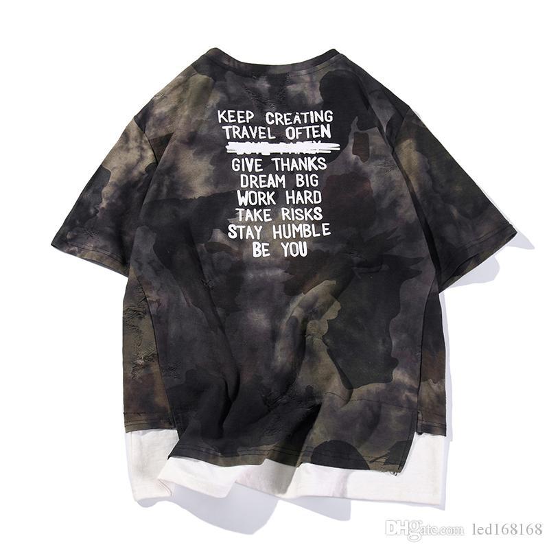 M-5XL Uomo Estate Camouflage T shirt Coppia manica corta Tees Hip Hop T Shirt