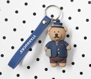 The wind of Korea authentic key individuality creative car key bear cute keys cartoon for female