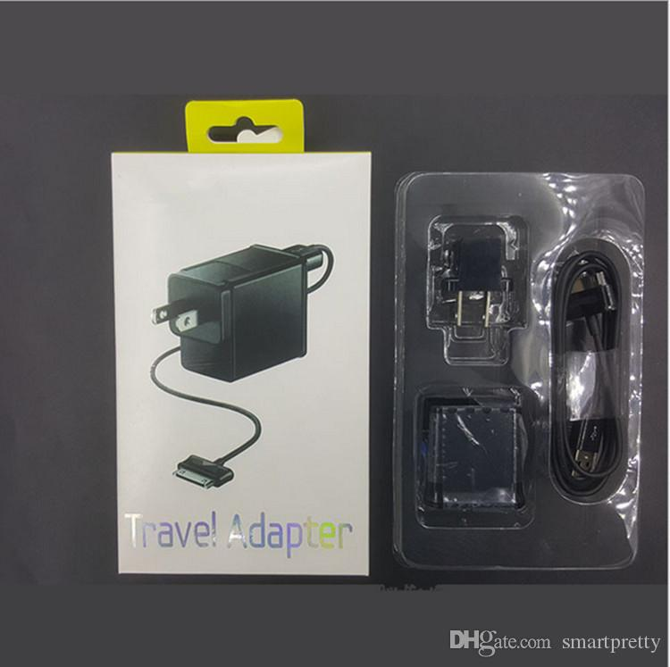For Samsung Tablet Charger Set 5V 2A US EU UK plug Power Travel Adapter Home Wall Laptop Chargers for Galaxy Tab P1000 P5100 P3100 P6800 new