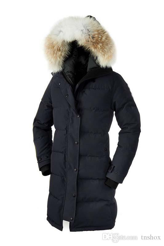 2019 Cheap Outwear Down Coats Goose Shelburne Parka Women's Fashion Slim Down Jacket 90% White Goose Down Breathable Warm Hooded Jacket