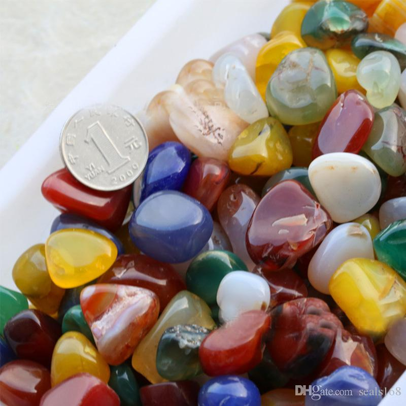 100g/Lot Colorful Crystal Rock Mineral Collection Activity Kit Rainbow Amethyst Agate Stones For Chakra Home Decorative Ornaments HH7-901