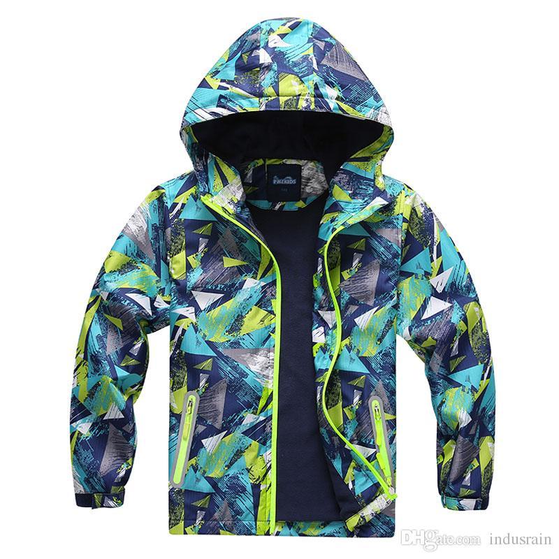 ربيع قمم الأطفال سترة قميص الرياضة القطبية ابتزاز معاطف الاطفال ملابس واقية للماء للبنين جاكيتات