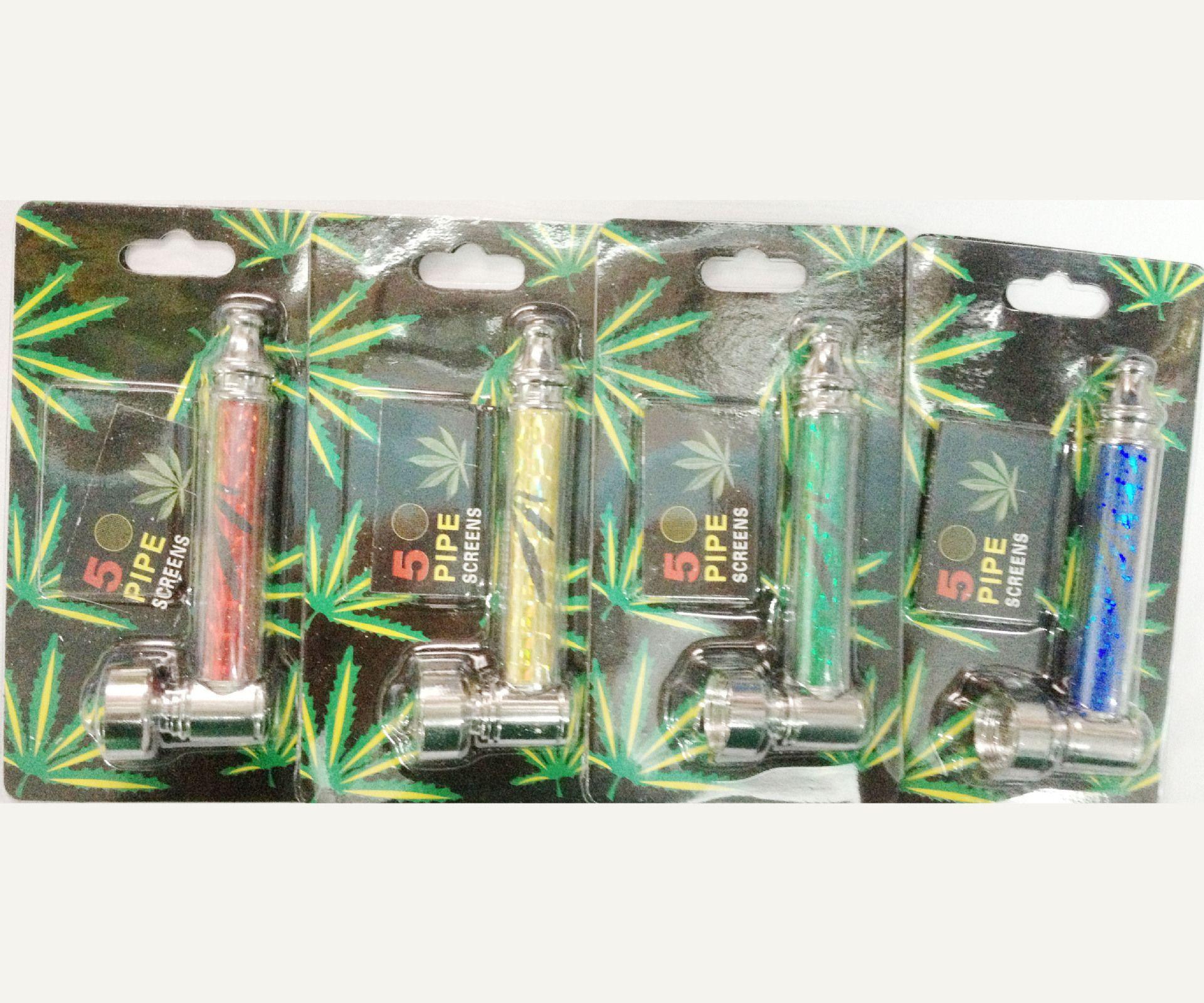 SMOKING pipe en métal pour fumer des pipes à base de tabac fumée fumée métal bruleur sec à l'huile brûleur d'expédition