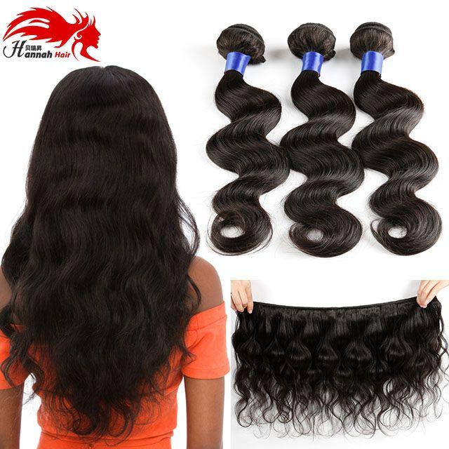 100 % 브라질 버진 사람의 머리카락 번들 8A 처리되지 않은 바디 웨이브 레미 휴먼 헤어 3 번들 여성용 물결 모양의 헤어 익스텐션 내츄럴 블랙