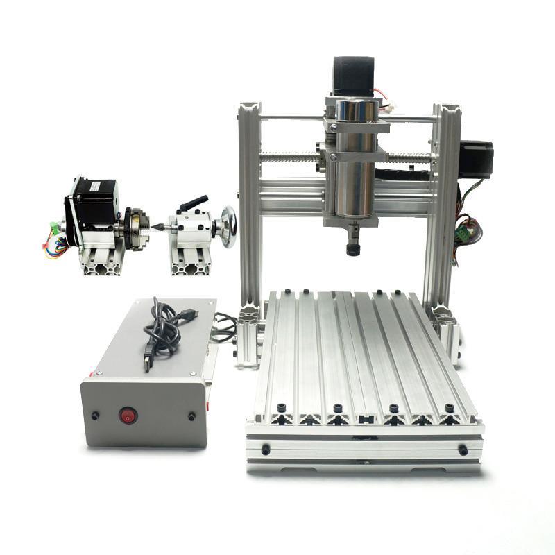 DIY CNC 3020 de metal 3 Eixo 4 Axis Mini Madeira 2030 CNC máquina de gravura Milling Lathe