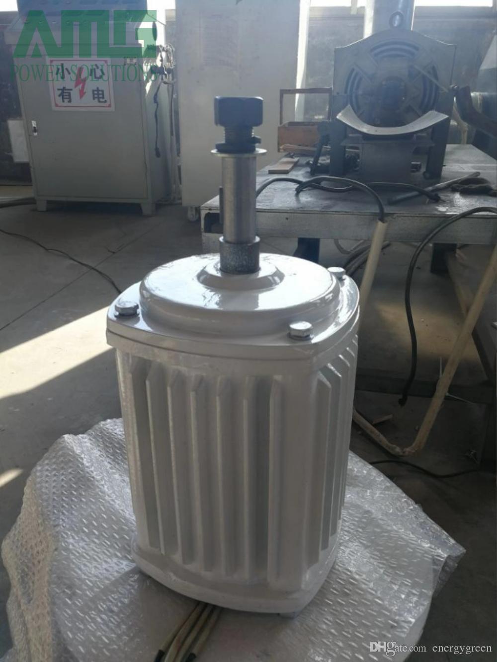 3KW / 3000W 300RPM 48v-220v alternateur à aimant permanent horizontal à faible régime / pmg / générateur de moteur à aimant permanent générateur de bricolage