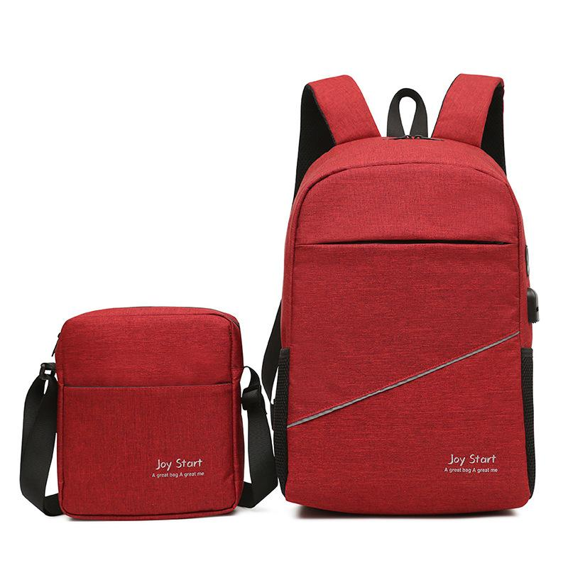 2PCS/Set Luxury New Composite Bag Fashion Backpack With Shoulder Bag Travel School Bags For Girls Boys