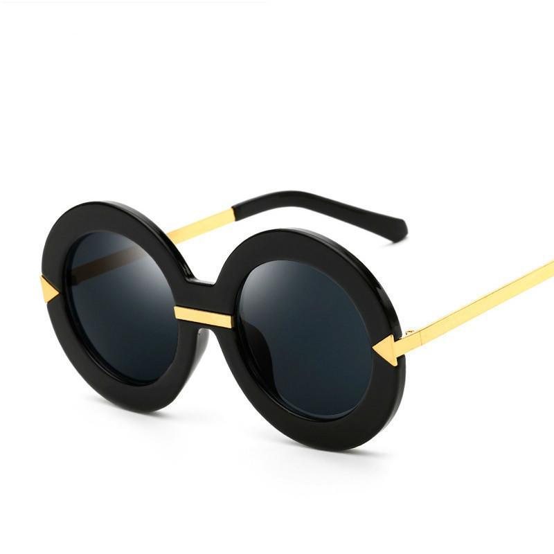 2018 السهم جولة للأزياء ماركة مصمم الرجال دي سول oculos النساء واضح نظارات شمس خمر الشرير الظل