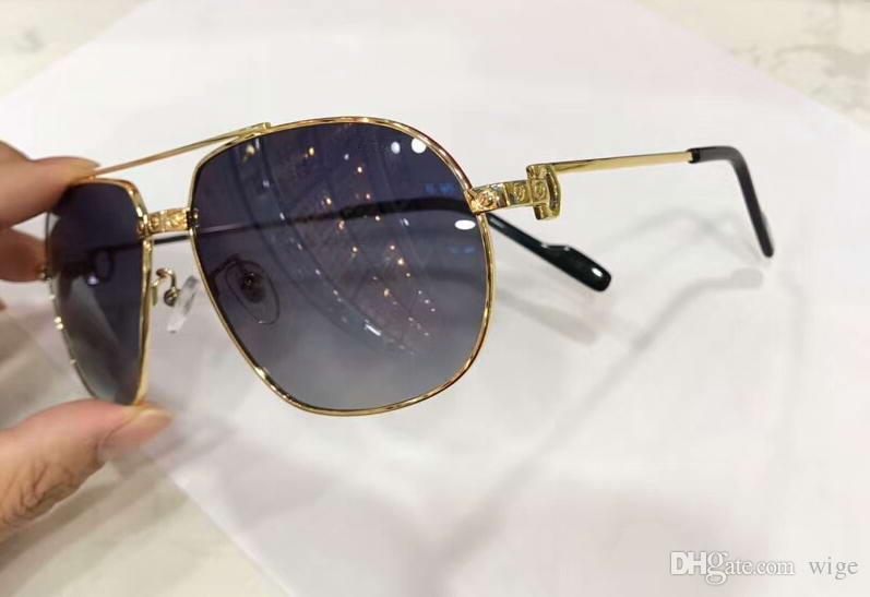 Lunettes de soleil hommes lunettes de soleil pilotes lunettes de lunettes Nouveaux occhiali hommes Sole Sonnenbrille gris à ombragés Wociv