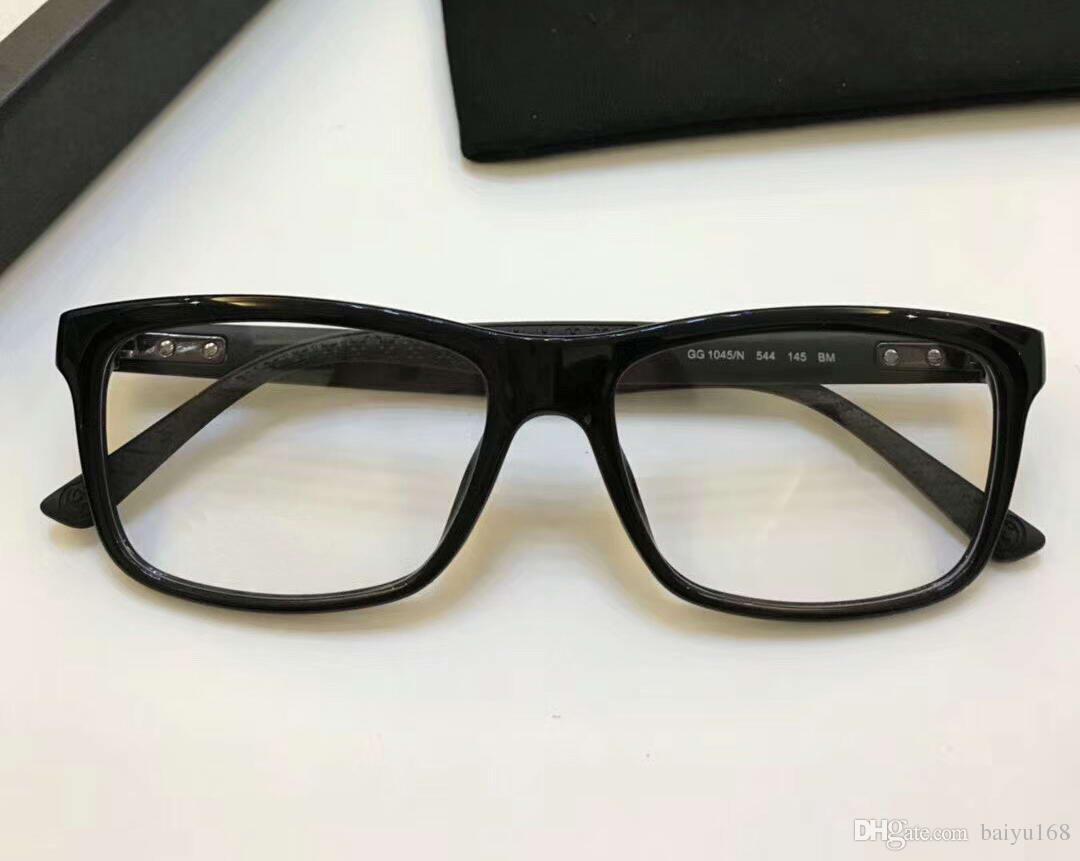 Großhandel Matt Schwarz Designer 1045 Brillen Rahmen Gläser 1045 / N ...
