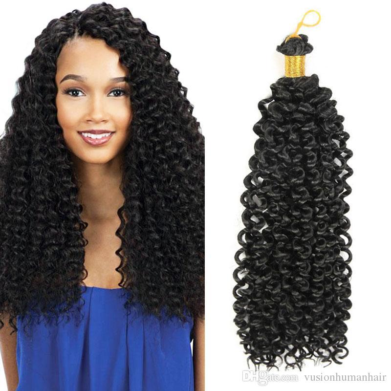 Hot Sale Freetress Crochet Braiding Crochet Hair Extension 14 inch 30 roots/pack Freetress Deep Twist Water Wave Crochet Braids Hair