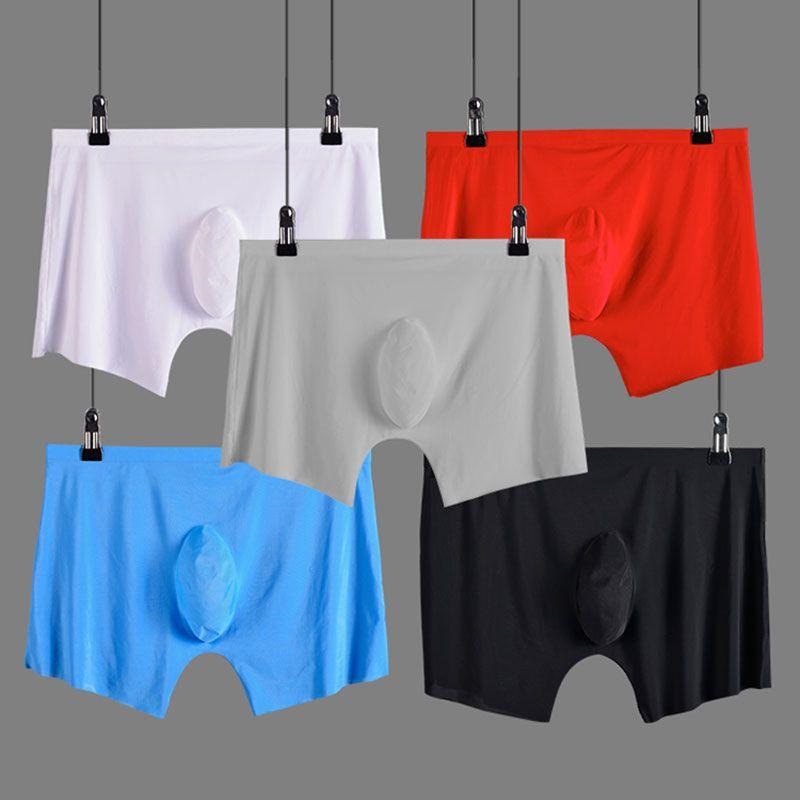 hommes sous-vêtements Boxer shorts soie de glace sans couture u convexe conception très doux sexy kilot hommes sous-vêtements hommes cueca boxer homme