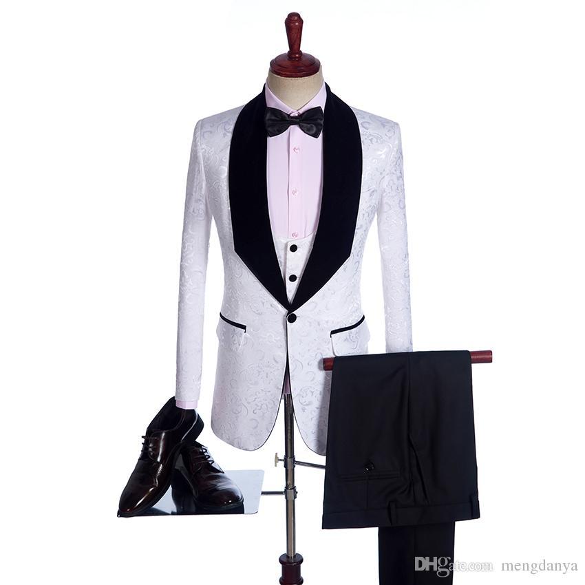 Groomsmen Büyük velet Şal Yaka Damat Smokin özelleştirmek Custom Made 4 renkler Erkekler Düğün İyi Adam Suits Blazer (Ceket + Pantolon + Papyon + Yelek)