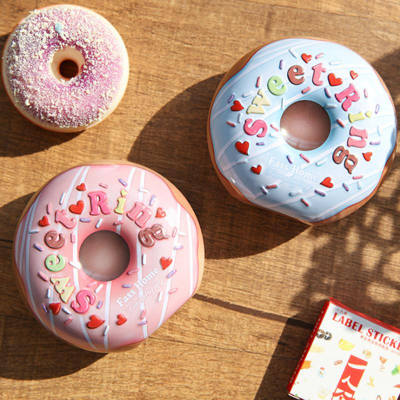 wholesale New Tinplate Chocolate Candy Box Cute Baby Shower Birthday Party Supplies Donut Candy Box Christmas Decorations for Home