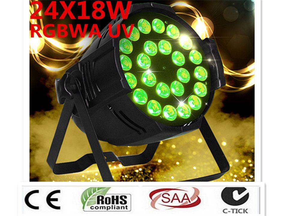 10 PZ 24x18W светодиодные фонари лампы RGBWA UV 6in1