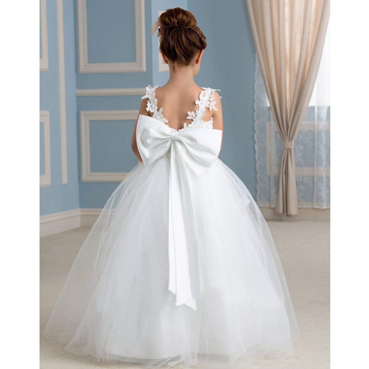 948f41582a4 New Girl Clothing Kids Dress Bear Puffy Toddler Children Dress Gown Flower  Girl Dresses Formal