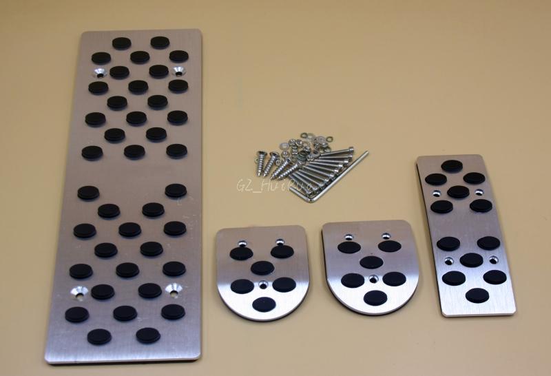 Neue Aluminiumlegierung Fußpedal Rest Platte MT Gaspedal Bremspedale für Audi A4 A5 A6 A8 B7 B8 Q5 Sline 4 STÜCKE