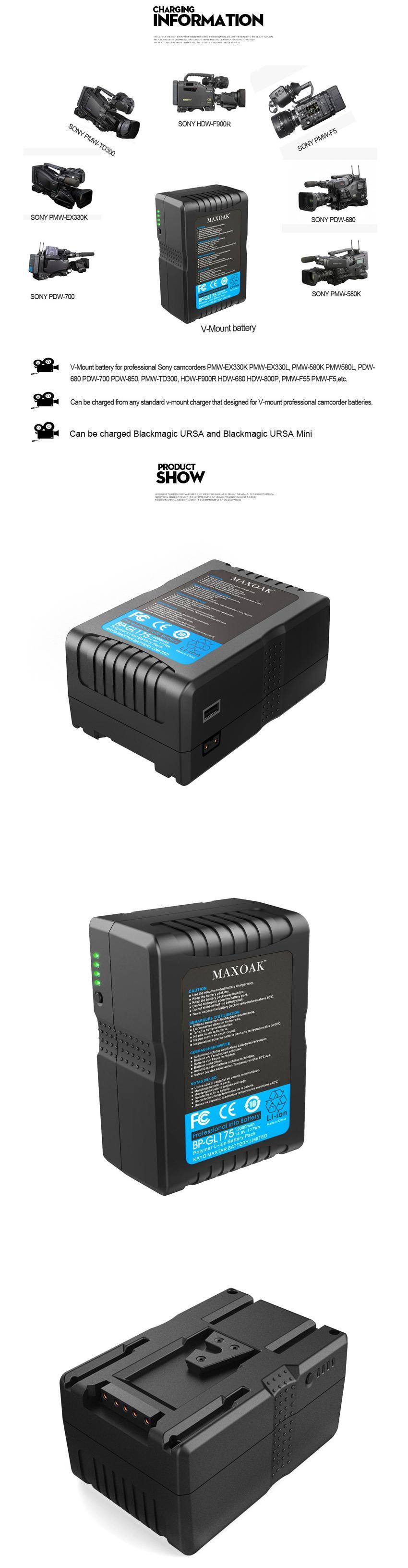 22V177-V mount battery