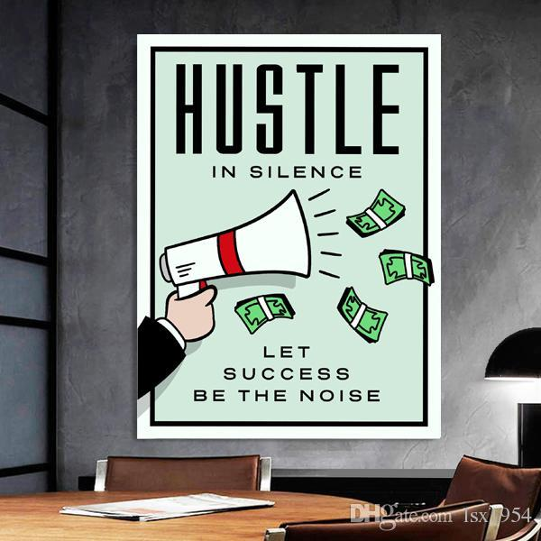 Alec Monopoly hd Oil Painting Canvas art prints wall decor Hustle In Sile 24x32