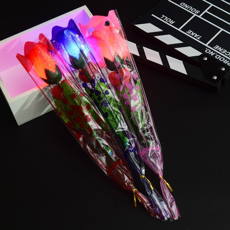 Красочные имитации блеск розы блеск розы День подарок творческого моделирования цветок игрушка цветка Танабата Валентина