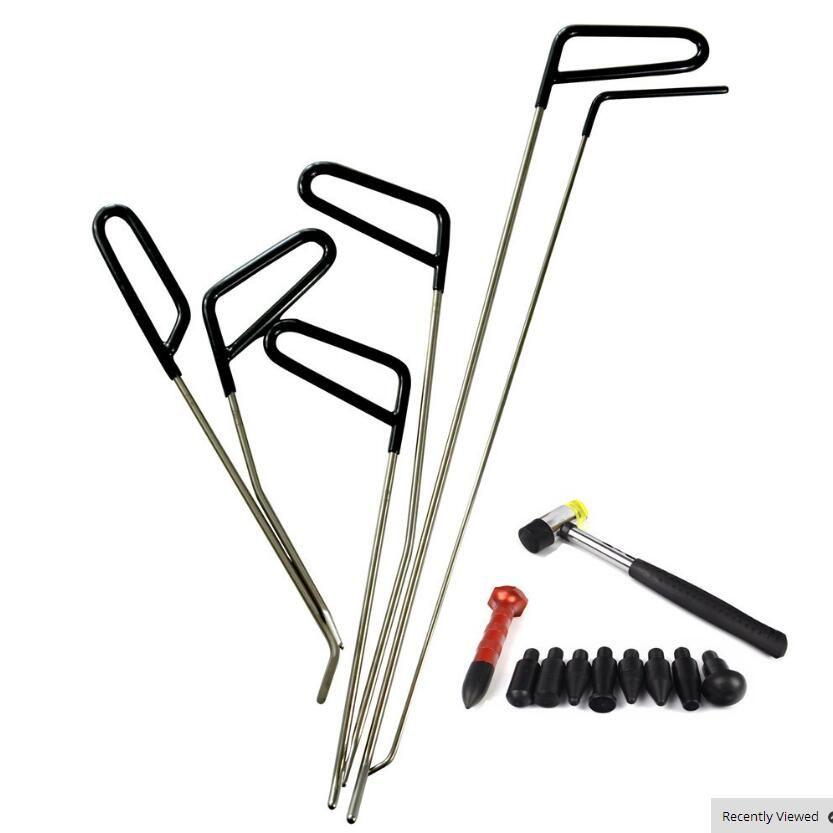 PDR Çubuklar Kanca Araçları Paintless Dent Onarım Araba Dent Kaldırma PDR Aracı Kiti Hail Hammer