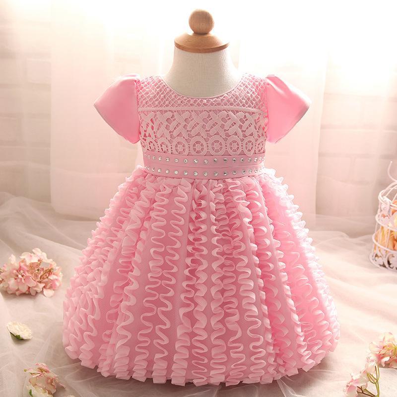 Compre Diseño De Moda Recién Nacido Vestido Para Bebé 3 6 9 12 18 24 Meses Con Cuentas Niñas Blanco Tutu Princesa Vestido Para Bebés Fiesta 2m02a A
