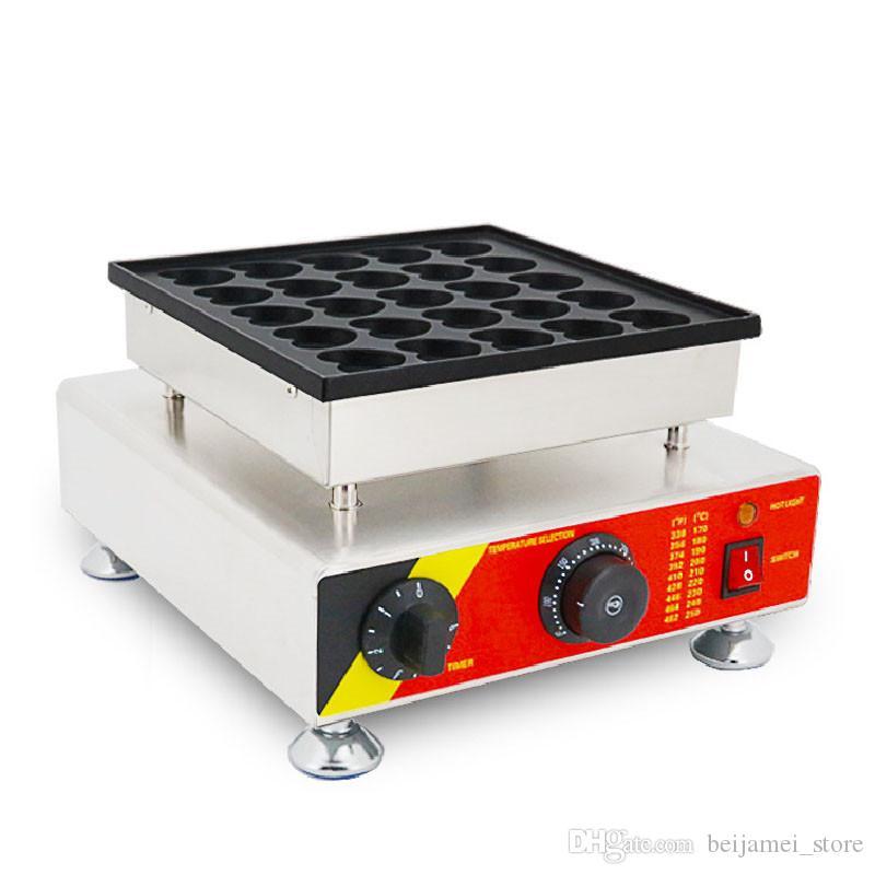 BEIJAMEI 25 delik kalp şeklinde çörek makinesi, elektrikli bakır yanan makine kalp şeklinde poffertjes makineyi waffle