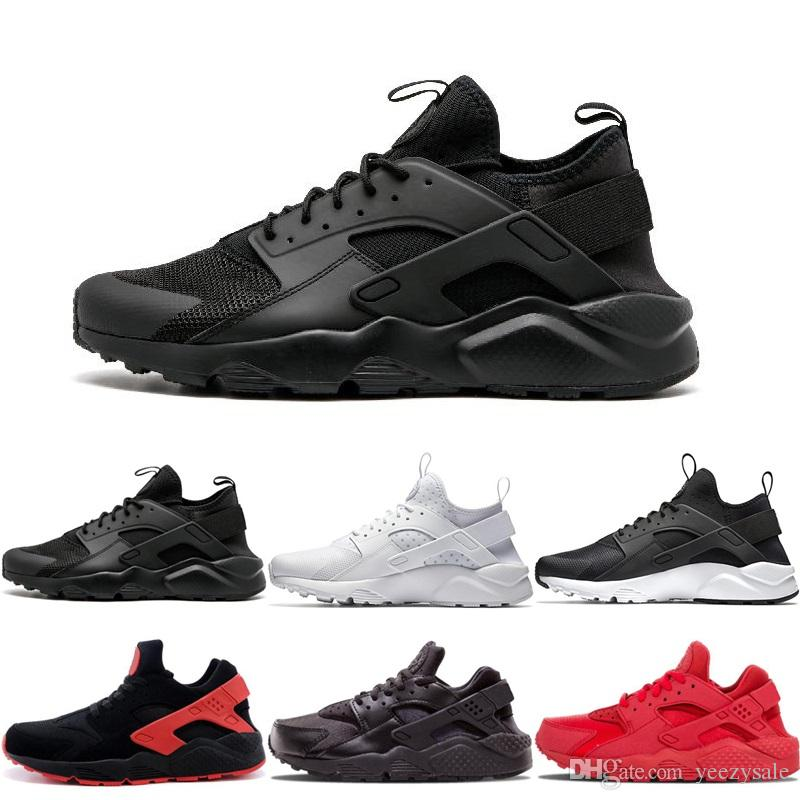 New Huarache 1.0 Running Shoes Triple White Black Red Huraches 4.0 IV Gold Grey Running Trainers Men Women Outdoors Athletic Sneakers